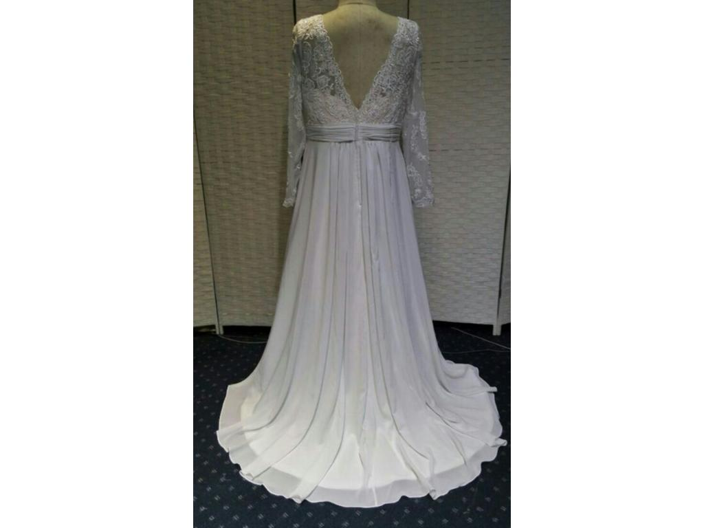 Plus Size Wedding Gowns With Sleeves: Other Plus Size Wedding Dress With Long Sleeves, $1,100