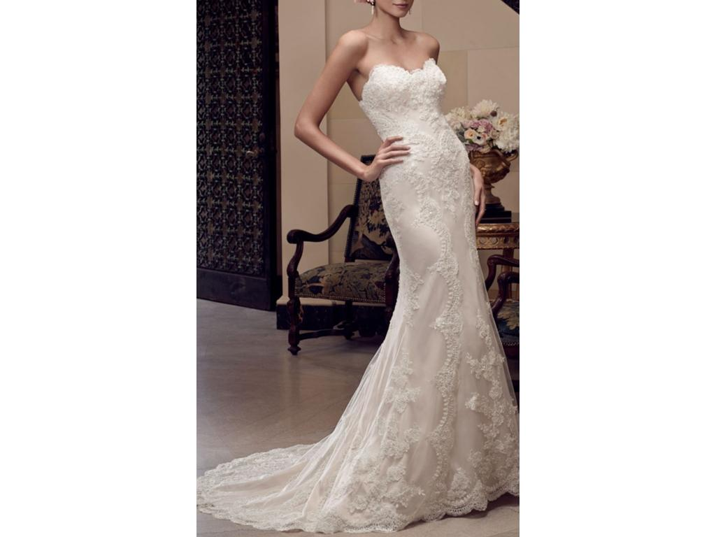 Casablanca 2201 1 000 size 12 new un altered for Silver wedding dresses for sale