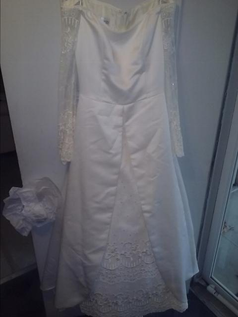 70s Jessica McClintock lace wedding gown excellent 910 off white