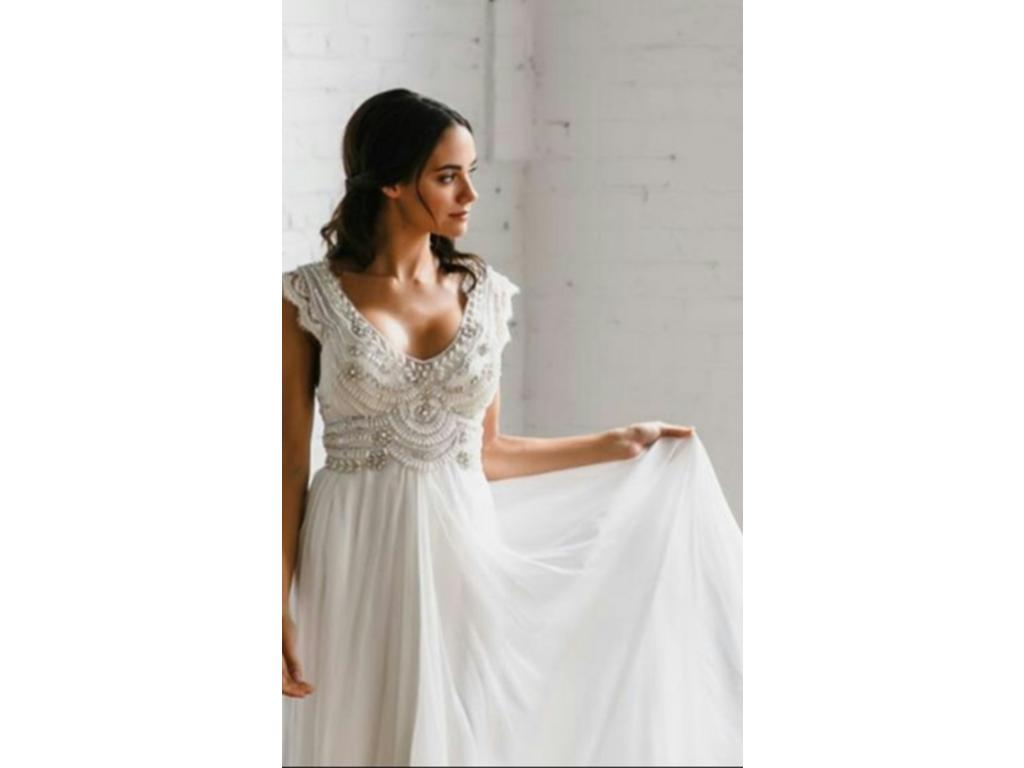 Anna campbell coco 2 500 size 4 new un altered for Anna campbell wedding dress for sale