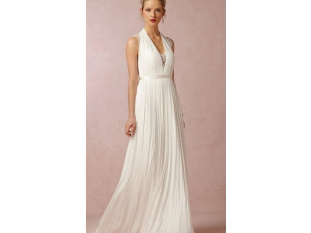 Bhldn catherine deane wing gown 650 size 10 used for Bhldn used wedding dresses