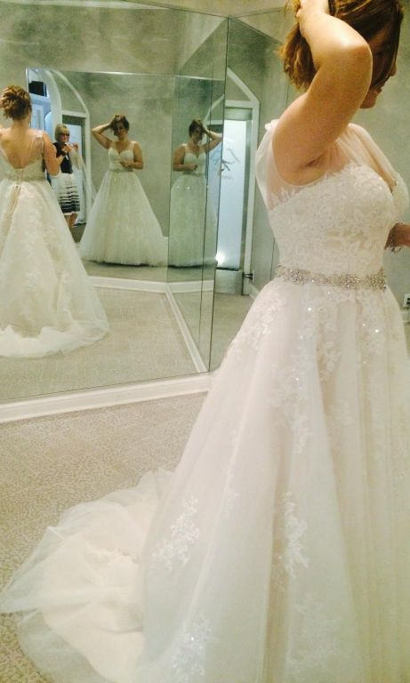 Private label by g 800 size 14 new un altered for Private label wedding dresses