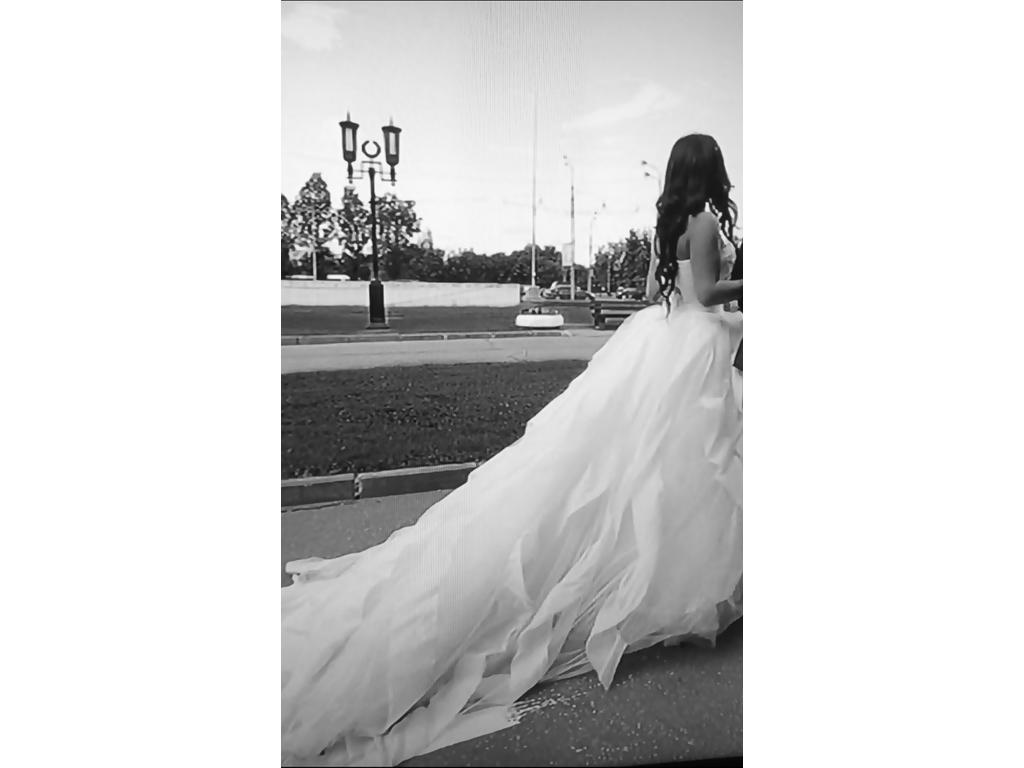 Vera wang liesel 3 500 size 10 used wedding dresses for Vera wang wedding dress for sale