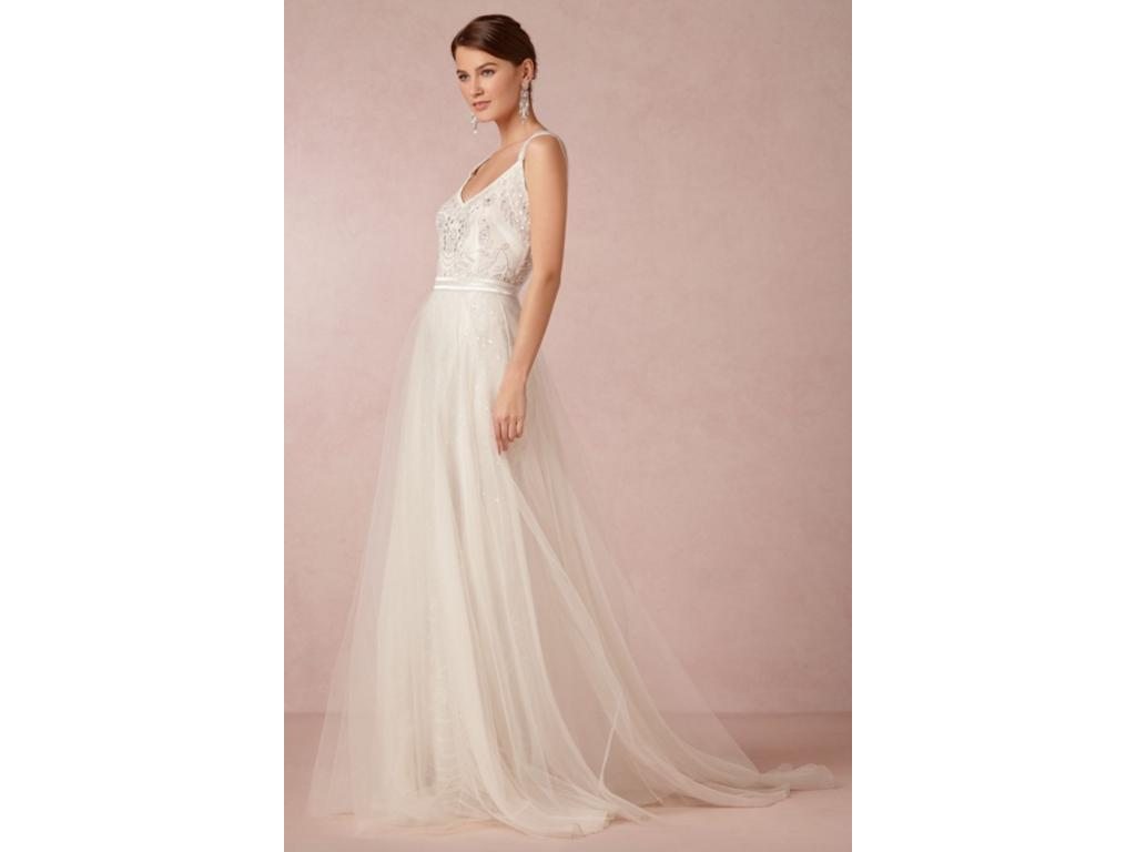 BHLDN Elsa Gown And Tulle Skirt - Style #31883556 And #3, $900 Size ...