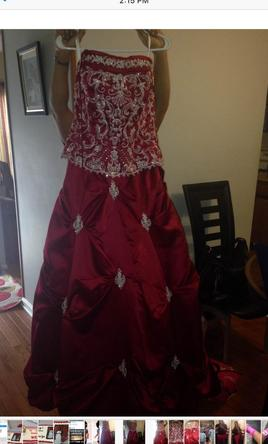Red wedding dresses preowned wedding dresses for Da vinci red wedding dress