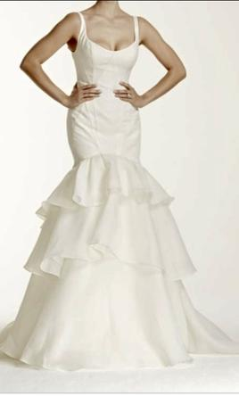 Zac posen truly tiered trumpet wedding dress 600 size for Zac posen wedding dresses sale