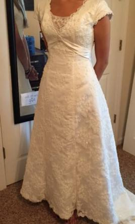 maggie sottero grace kelly 500 size 10 used wedding