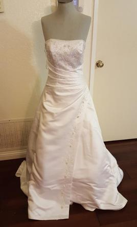 Camille la vie christian michele 75 size 4 used for Christian michele wedding dress