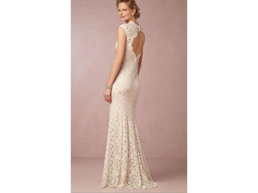 Beige Lace Bhldn Wedding Dress Or Bridesmaid Gown: Tadashi Shoji Marivana Lace Gown (BHLDN), $500 Size: 10