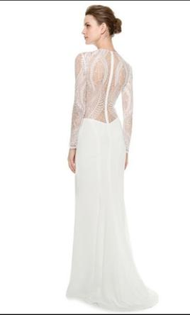 Monique Lhuillier Halle Long Sleeve Sheath Gown 4