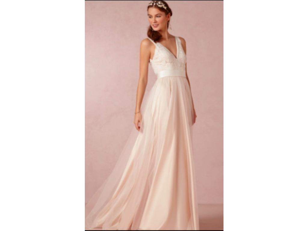 BHLDN Tamsin Dress in Blush, $750 Size: 4 | Used Wedding Dresses