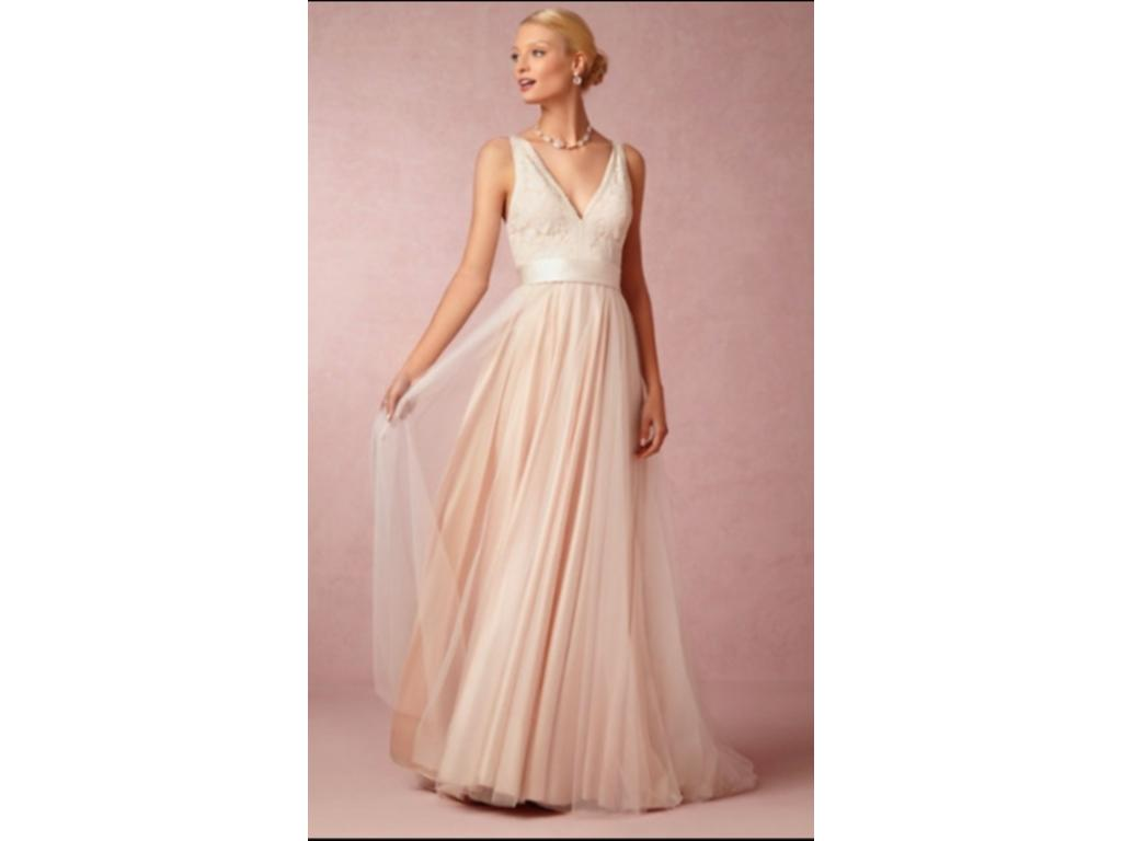 Bhldn tamsin dress in blush 750 size 4 used wedding for Bhldn used wedding dresses