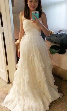 J crew j crew waterfall gown 500 size 2 used wedding dresses pin it add to j crew j crew waterfall gown 2 junglespirit Images