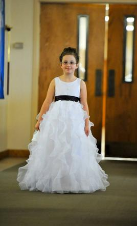 David's Bridal H1281, Size: 0 | Flower Girl Dresses
