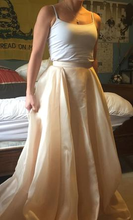 Carol Hannah Mulberry Skirt 500 Size 4 New Un Altered Wedding Dresses
