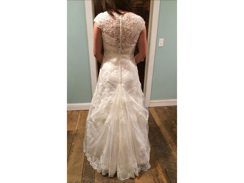David 39 s bridal t3299 450 size 6 new altered wedding for Davidsbridal com wedding dresses