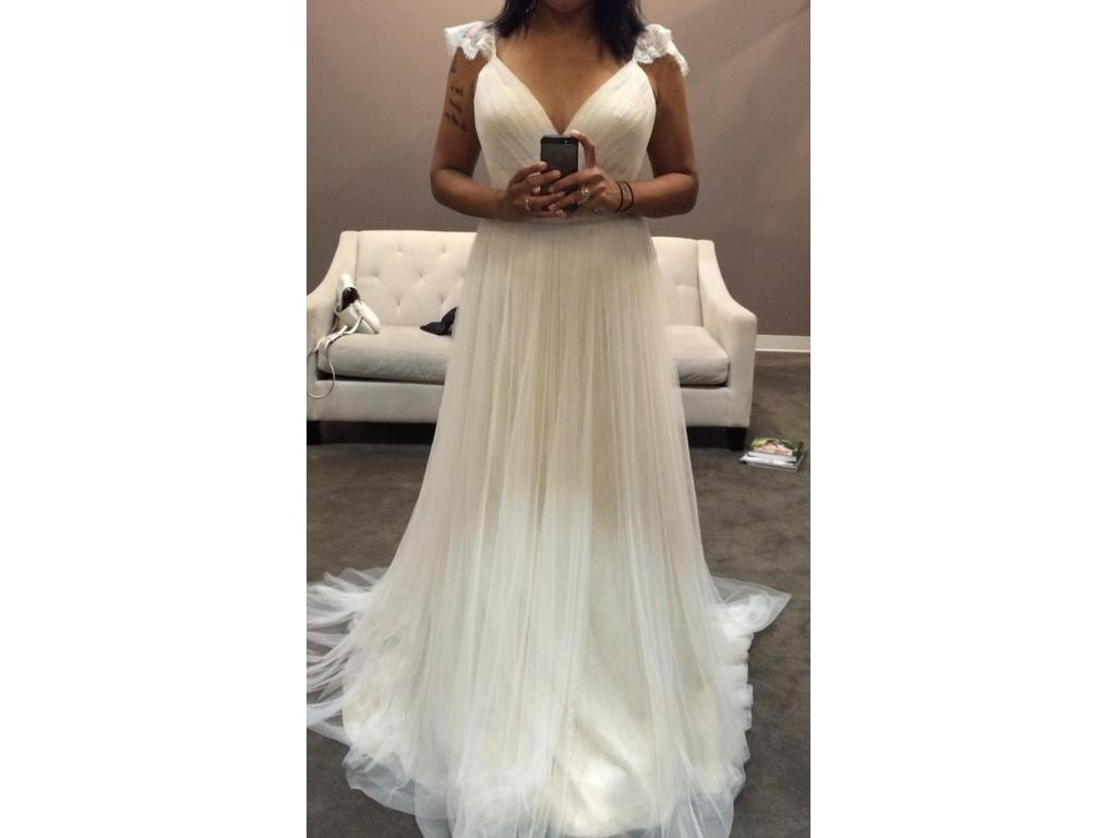French Lace Wedding Gown: Stella York French Tulle & Lace Dress/Style 6199, $600