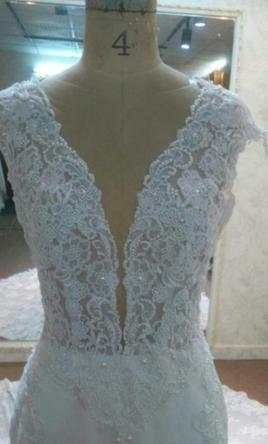 Inspired Gowns Cap Sleeve lace Wedding Dress by Darius Designs 12