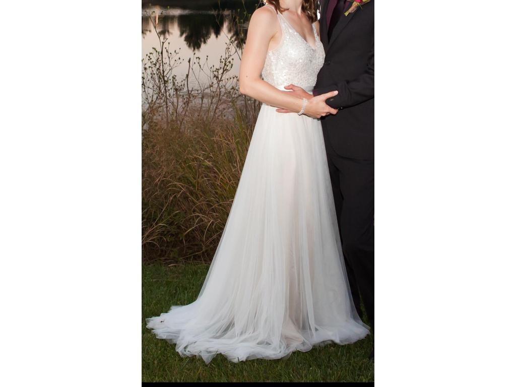 Wtoo persiphone gown style 13614 700 size 2 used for Size 2 wedding dress