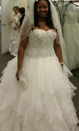 Pin It Oleg Cini Strapless Ruffled Skirt Wedding Dress 14