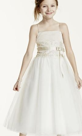David's Bridal H1173, Size: 0 | Flower Girl Dresses