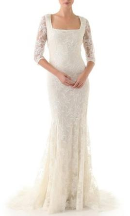 Badgley Mischka Lace 3/4 Sleeve Gown  2