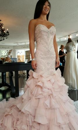 Maggie sottero serencia 1 700 size 2 new un altered for Blush wedding dress for sale