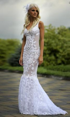 Other Lace Wedding Dress with Train  10