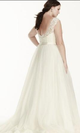 Davids bridal tulle plus size wedding dress with lace cap sleeve pin it davids bridal tulle plus size wedding dress with lace cap sleeve 16w junglespirit Gallery