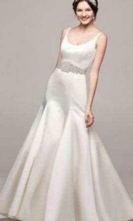 David's Bridal Trumpet Gown with Button Back Detail 12