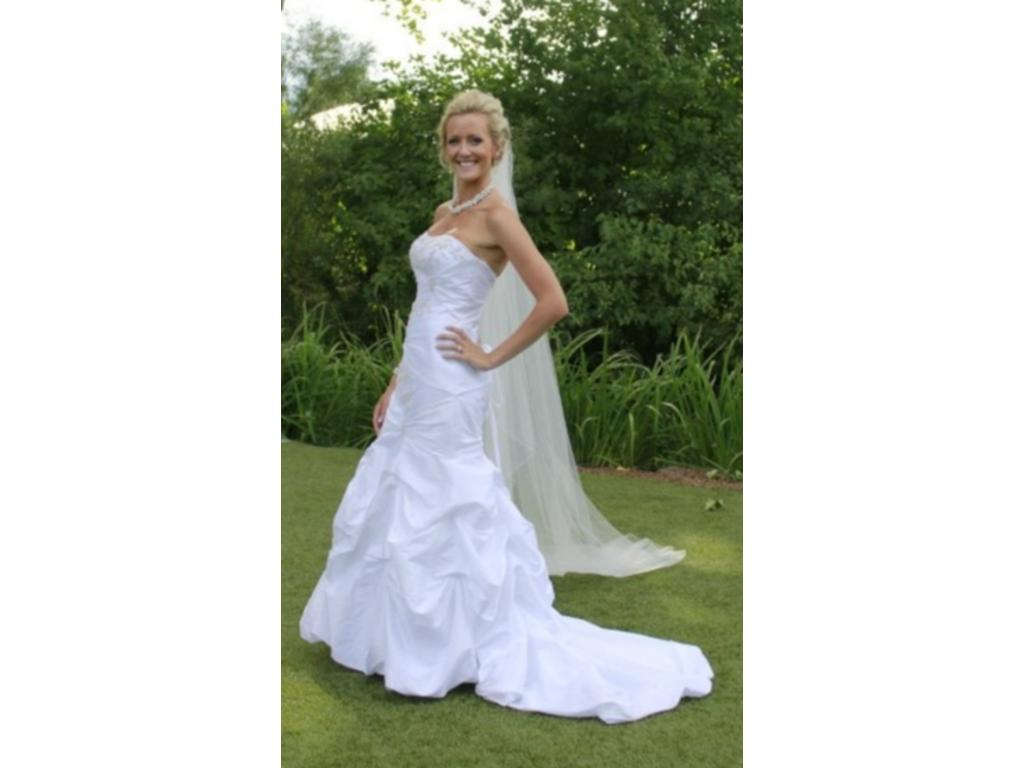 David 39 s bridal wg3071 175 size 10 used wedding dresses for Davidsbridal com wedding dresses