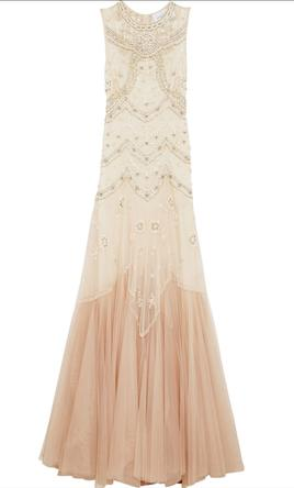 BHLDN Needle & Thread Cate Gown 10