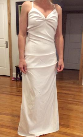 Other White sheath wedding dress 6