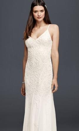 Pin It David S Bridal Beaded Sheath Dress With Et Skirt 061916730 4