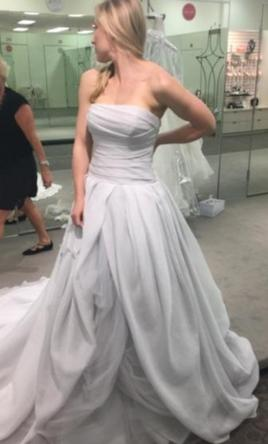 cf3f4924755e Vera Wang White VW351178 Wedding Dress | New (Un-Altered), Size: 4, $700