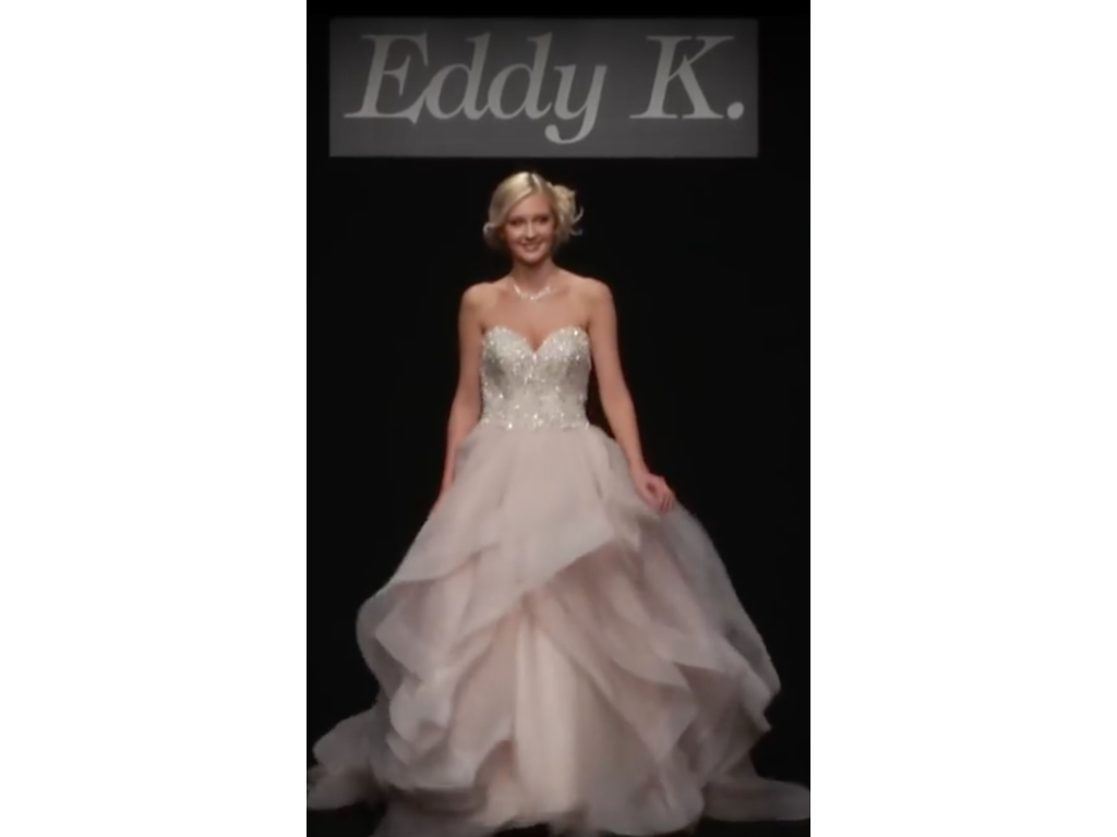 Eddy k ct154 1 800 size 12 used wedding dresses for Pre owned wedding dresses