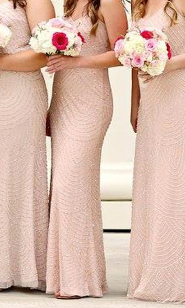 Adrianna Papell Blush Pink Bridesmaid Dresses