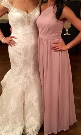 7ec9f5ba67dde Alfred Angelo Loves First Blush Bridesmaid Dress | Used, Size: 0, $125