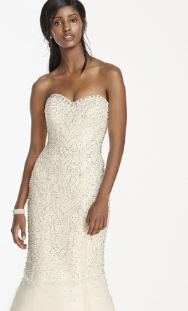 Galina  Signature crystal beaded fit and flare 12