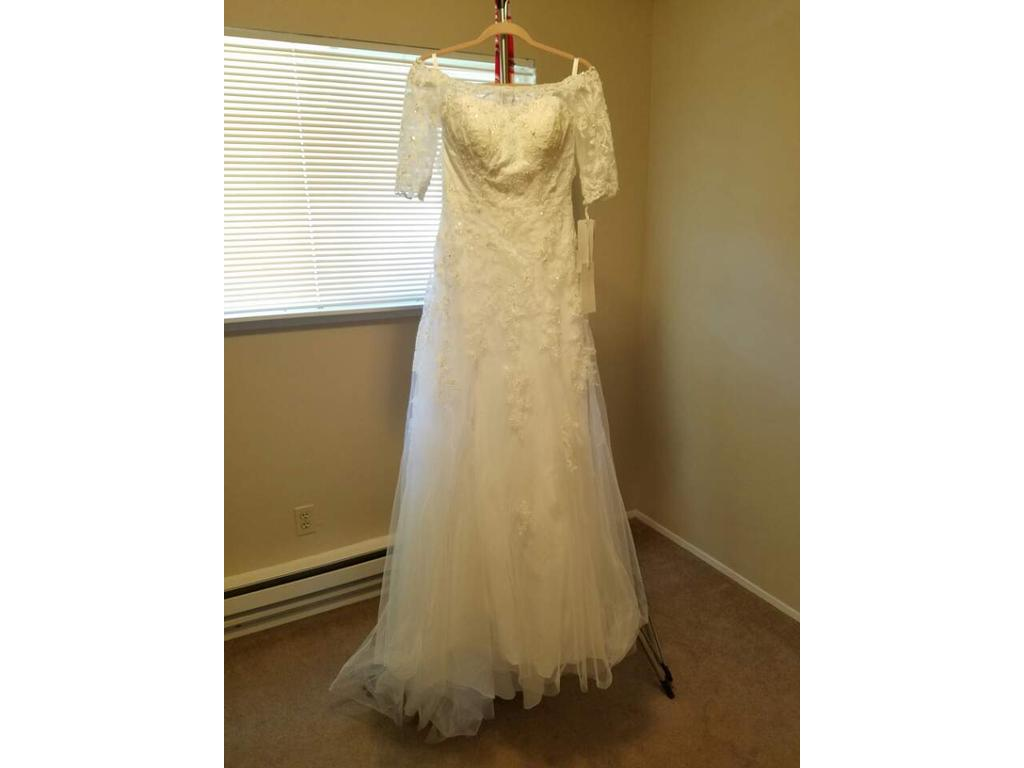99 Dollar Wedding Gowns: David's Bridal Jewel Collection Style: WG3734, $600 Size
