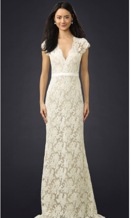 Reem Acra I'M Married Lace Gown 6