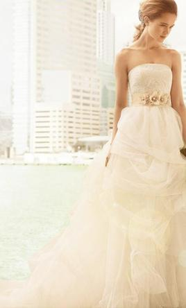 2c1794416a93 Vera Wang White vw351065, $700 Size: 4 | New (Un-Altered) Wedding ...