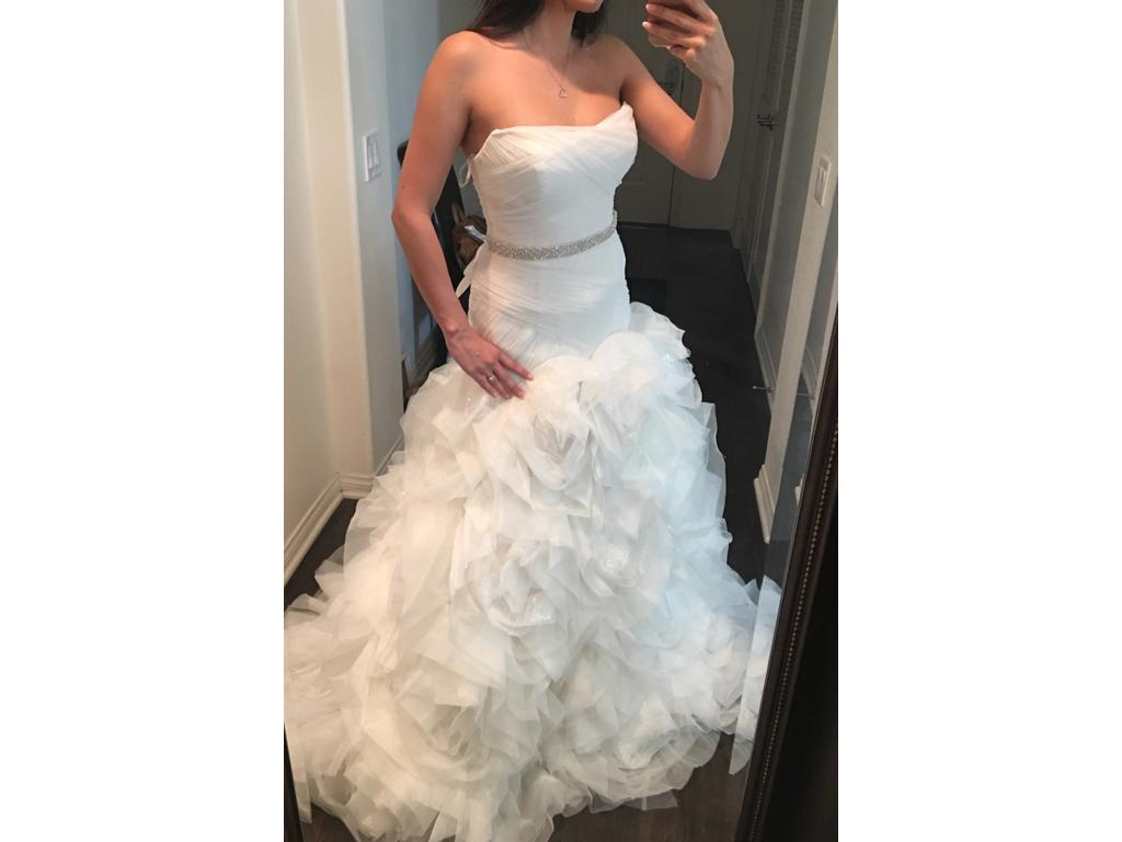 Simple Wedding Dresses Under 500: Vera Wang White White By Organza And Satin Wedding Dress