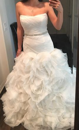 Vera Wang White White By Organza And Satin Wedding Dress Wedding D 6