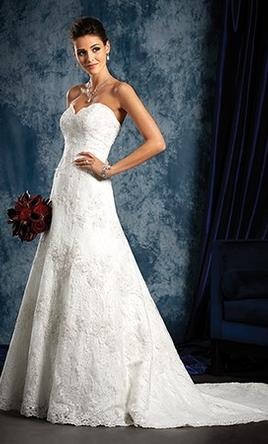 67d3de5af9c2 Alfred Angelo Sapphire Lace Style 801 Wedding Dress | Used, Size: 6 ...