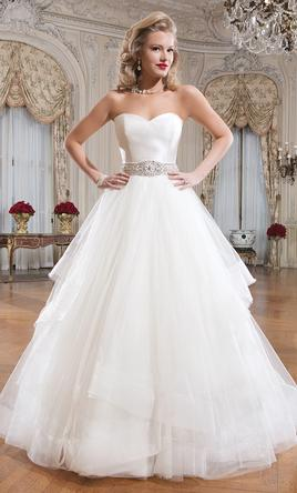 Justin Alexander Style 8779 Silk Dupion and Tiered Tulle Dress 12