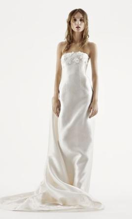Vera Wang White Strapless Mikado Wedding Dress 6
