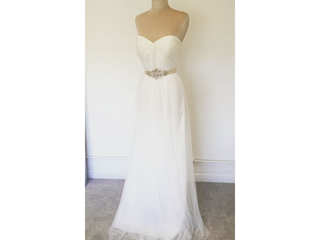 Jenny packham elle 910 size 10 new un altered for Size 10 wedding dress
