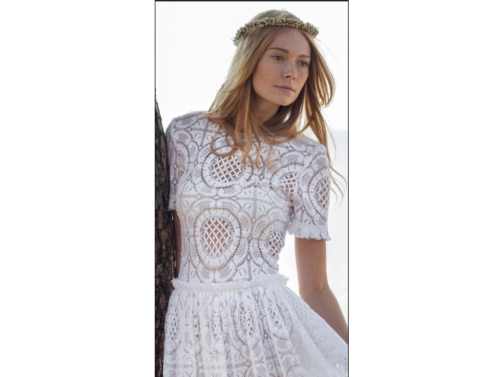 Other Costarellos Short Sleeve Cotton Lace Gown $3 450