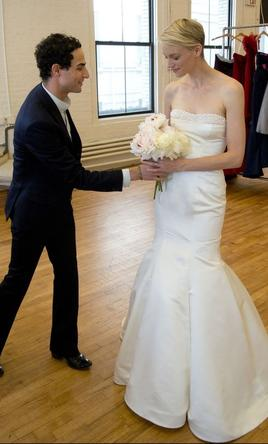 Pin It Zac Posen Truly Wedding Dress With Pearl Details 4
